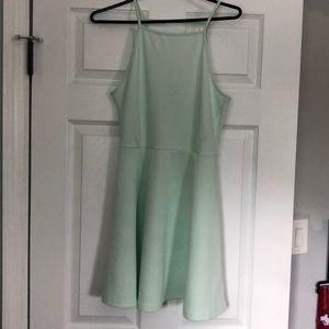 Adorable mint summer dress